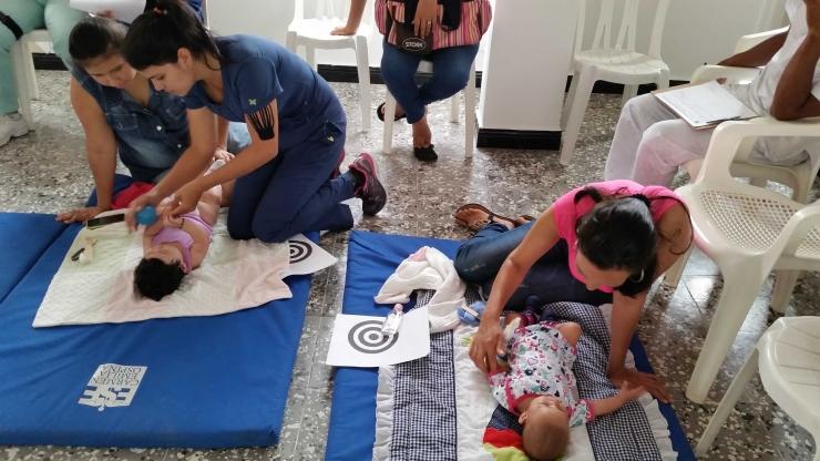 La ESE Carmen Emilia Ospina realiza Taller de Estimulación Temprana a niños de Granjas