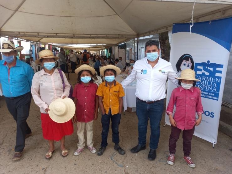 Habitantes de San Luis, Aipecito y Chapinero recibieron los servicios de la ESE Carmen Emilia Ospina