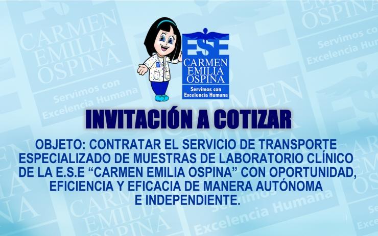 Invitacion cotizar Transporte de Muestras