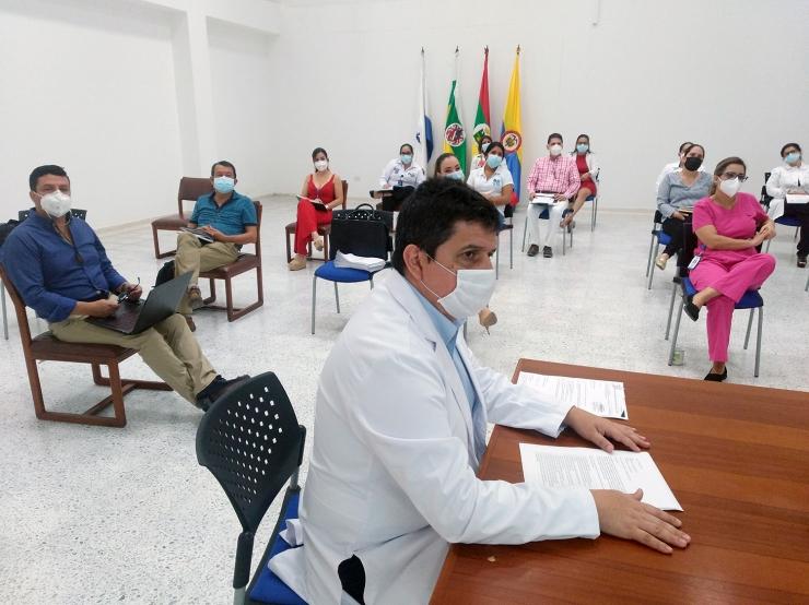 E.S.E. Carmen Emilia Ospina realizó comité de seguimiento al Plan de Contingencia COVID-19