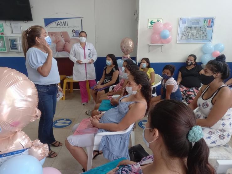 Madres del barrio Eduardo Santos se prepararon para una maternidad segura